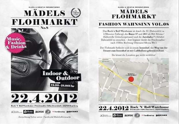 Mädelsflohmarkt hamburg flohmarkt fashion mode diy Mädchenflohmarkt april